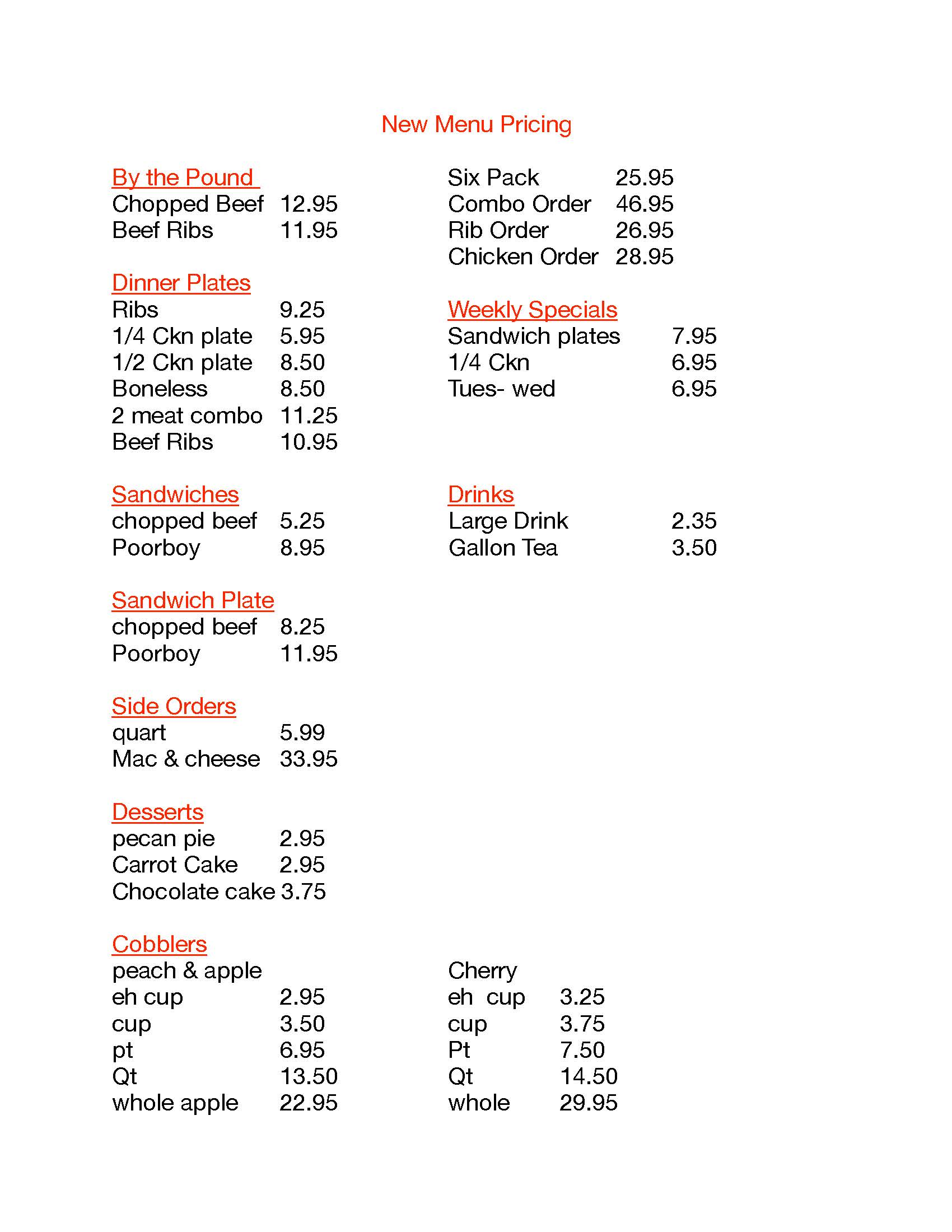new Menu Pricing pdf